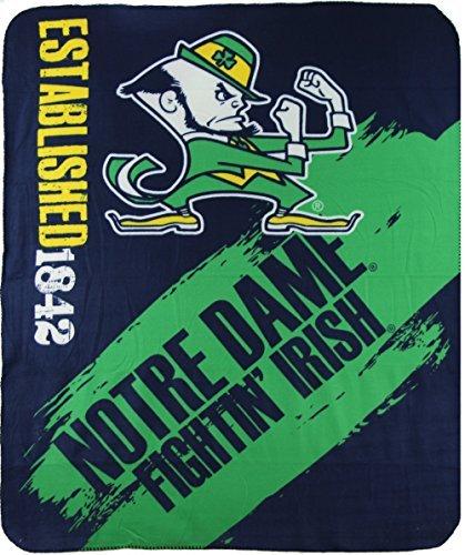 size 40 9f5c5 c803d Notre Dame Fighting Irish Blankets. The Northwest Company NCAA Collegiate  School Logo Fleece ...
