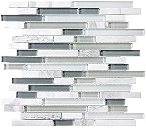 1 Square Foot Bliss Iceland Stone And Glass Linear