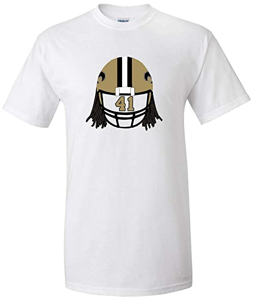 the latest da254 f7db8 Amazon.com: The Tune Guys White New Orleans Kamara Helmet T ...