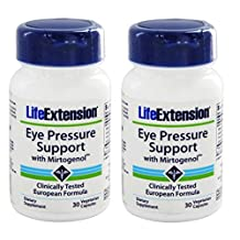 Eye Pressure Support with Mirtogenol, 30 vcaps by Life Extension (Pack of 2)