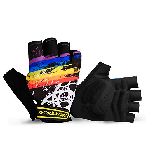 Ezyoutdoor Unisex Nylon Half Finger Cycling Gloves for Outdoor Sport Mountain Bike Cycling Riding Fitness (Black, L)