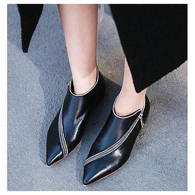 RTRY Chaussures pour femmes Bottes Bottes en cuir de la mode d'été Talon Chaussures Bottines / Boots pour Noir Brun foncé occasionnels