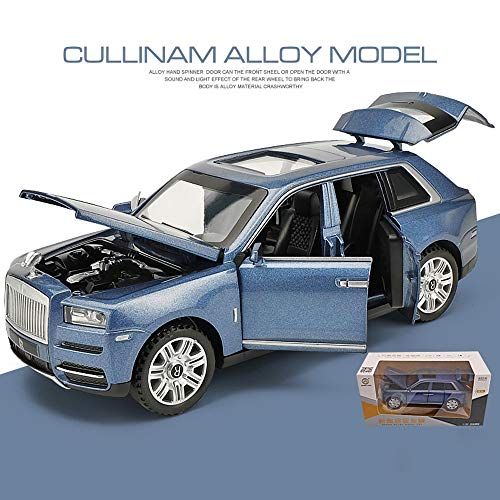 (ElevenY Alloy Car Model Vehicle Simulation Toy for 1:32 Scale Model Muse Coolinan Business Sedan Electric Toy Sound & Light - Kid Adult Birthday Christmas Collection Gift (Color : Blue))