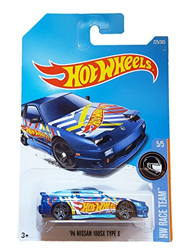 Hot Wheels 2017 HW Race Team '96 Nissan 180SX Type X 225/365, Blue