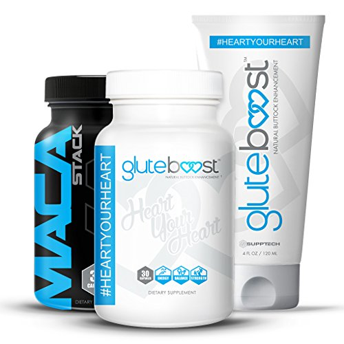 - Gluteboost | Best Butt Enhancement Kit - Pills, Cream, and Maca for Bigger Butt - 1 Month (30ct / bottle)…