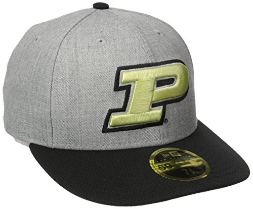 (New Era NCAA Purdue Boilermakers Adult Change Up Redux Low Profile 59FIFTY Fitted Cap, 7 3/8, Heather Gray)