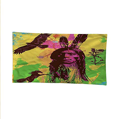 Native Americanfunny tapestryquote tapestryChef Horse Eagle 80W x 60L Inch