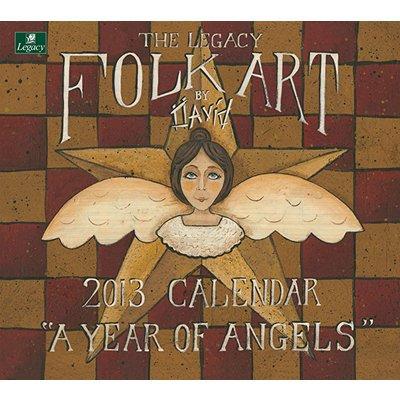 Folk Art by David 2013 Wall Calendar