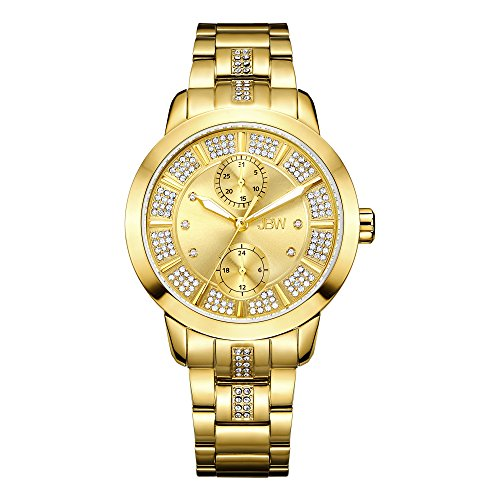JBW Women's Lumen J6341F Gold Multi-Function Diamond Watch
