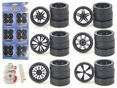 - Black Replacement Rims For 1/24 Scale Cars & Trucks