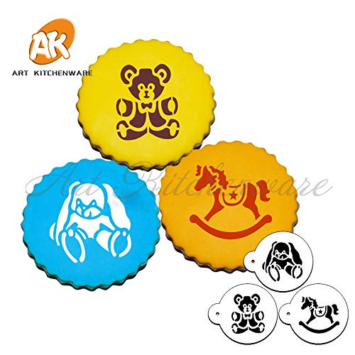 Baby Toys Cupcake Stencil,Stencil for Cake Decorating,Cookie Stencil,Mold Kit For Christmas Party,Cake Decorating Tools -