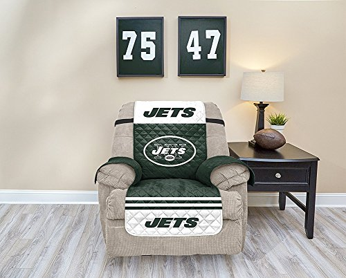Pegasus Sports NFL New York Jets Recliner Waterproof Furniture Protectors with Pockets