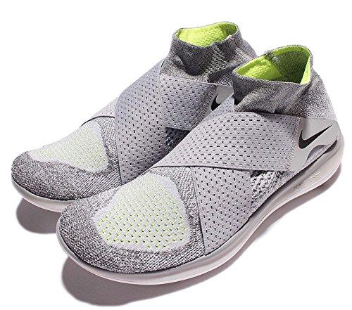 Nike Mens Free RN Motion Flyknit 2017 Running Shoe 12 D M US, Grey Black-Cool Grey-Volt
