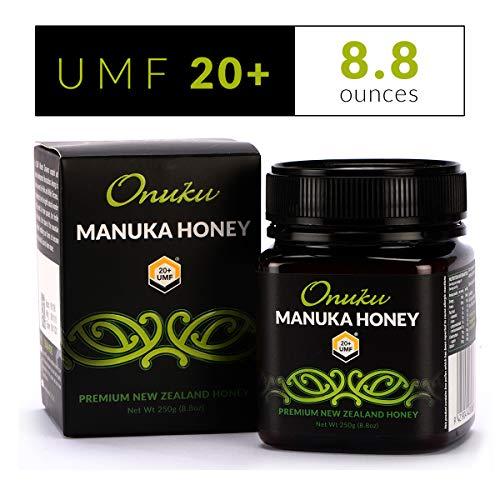 ONUKU Certified Manuka Honey - [UMF 20+], [MGO 830+] Raw Honey - Authentic Manuka Honey New Zealand - Non-GMO - 250g Jar - 8.8 oz