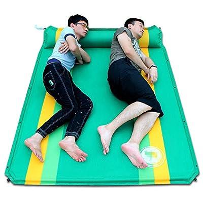 ZQ@QXAutomatique Double coussins gonflables piscine camping mat 190*130*3.5cm