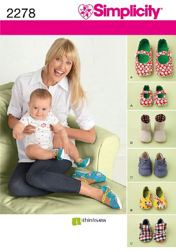 ttern 2278 Misses' and Baby's Shoes Size A (All Sizes) (Baby Bootie Pattern)