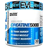 Evlution Nutrition Creatine5000 5 Grams of Pure Creatine Monohydrate in Each Serving Unflavored Powder (30 Servings)