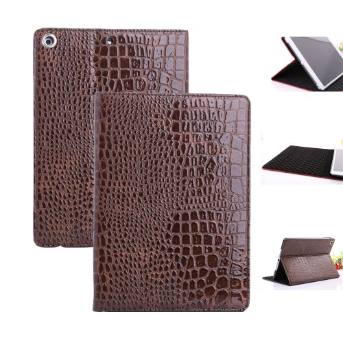 Smart Tech Ultra Slim Smart Leather Magnetic Stand Case Cover for Apple Ipad Air / Ipad 5 (ipad 5/air case-Crocodile line-Coffee)