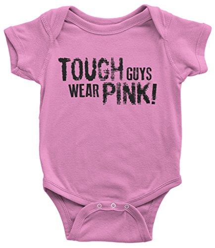 Threadrock Baby Boys' Tough Guys Wear Pink Infant Bodysuit 12 Months ()