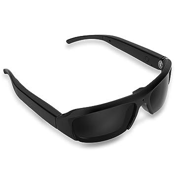 Mugast Gafas de Cámara Digital Gafas de Sol Full HD 1080P Cámara con Tarjetas TF de 32G para Actividades al Aire Libre, Ciclismo, Esquí, etc.