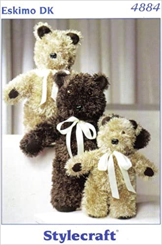 Stylecraft 4884 Teddy Bears Toy Knitting Pattern Small Teddy Bear