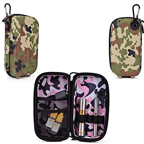 Travel Vape Case-Universal design in a Camo Green compatible with Blu Electronic Cigs