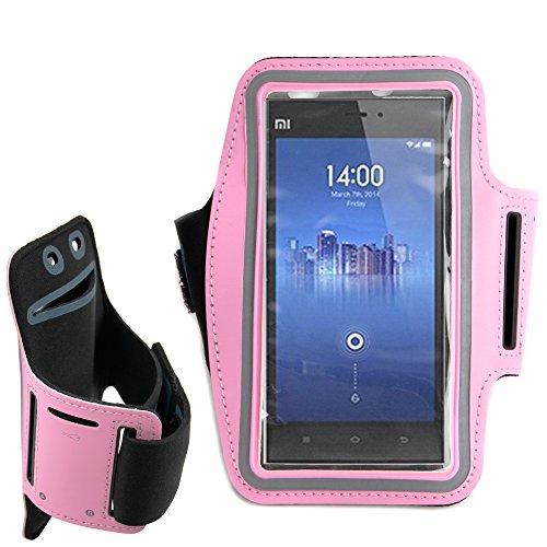 Sports Armband for Xiaomi Mi3 (Pink) - 2
