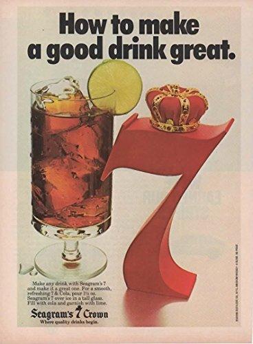 Magazine Print ad: 1978 Seagram's 7 Crown Whiskey,