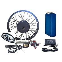 3000W Hub Motor 72V38AH Li-on Battery Powered Electric Bike Conversion Kit + LCD Theebikemotor