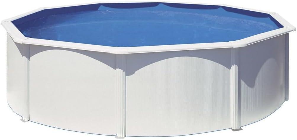 Gre KITPR4583- Piscina Azores desmontable redonda de acero color blanco Ø460x132 cm: Amazon.es: Juguetes y juegos