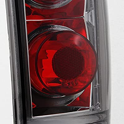 For 1995-2004 Chevy Blazer S10 GMC Jimmy Envoy LH + RH Smoke Replacement Taillights Tail Lamps Pair Set: Automotive