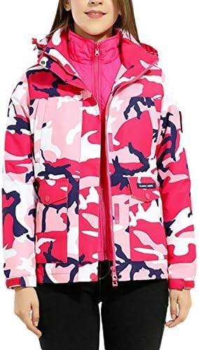 LIMATRY Women`s Hooded Waterproof Warm Jacket Rain Coat for Hiking Couple Outdoor Sportswear