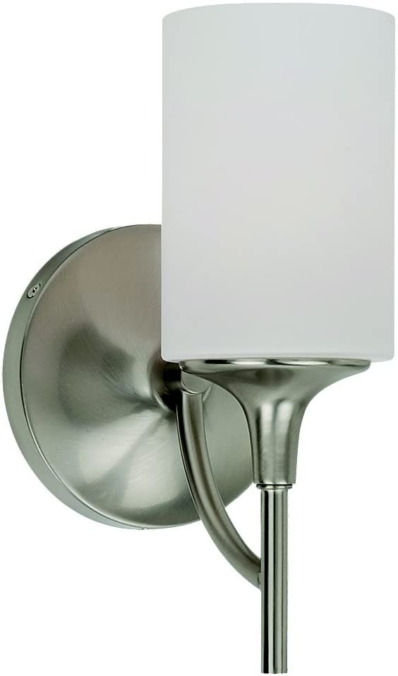 Sea Gull Lighting 44952-962 Stirling One-Light Wall Bath Vanity Style Lights, Brushed Nickel