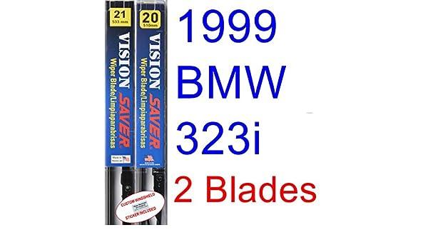 Amazon.com: 1999 BMW 323i Convertible Replacement Wiper Blade Set/Kit (Set of 2 Blades) (Saver Automotive Products-Vision Saver): Automotive