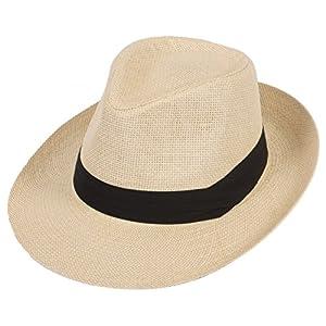 DRY77 Summer Cool Outback Panama Wide Large Brim Fedora Straw Hat Men Women