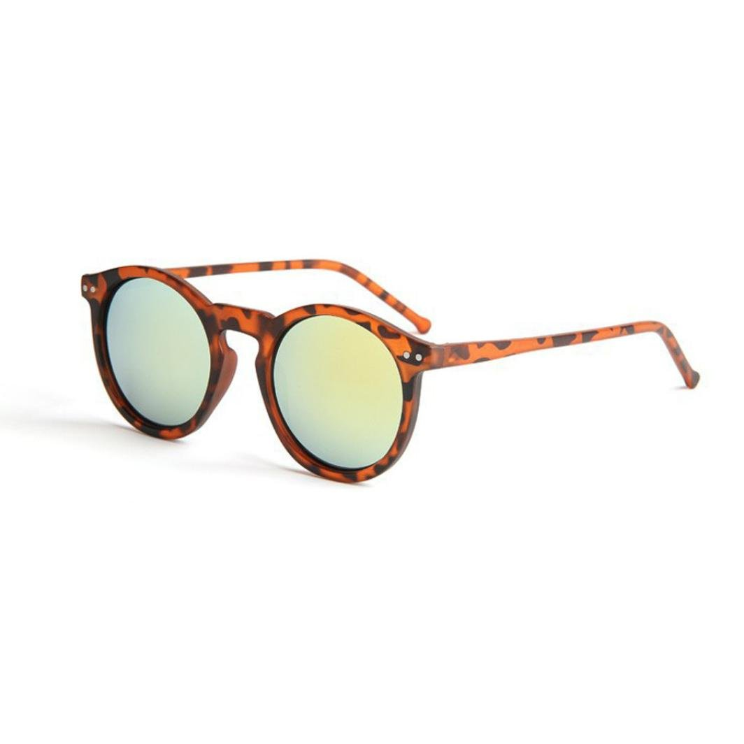 Veepola Fashion Circular Tone Mirror Retro Men Women Transparent Sunglasses