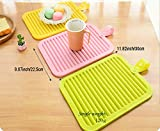 Tenta Kitchen Simplity Collection Silicone Trivets Mat With Folding Tie (Set Of 4) - Insulated Pot Holders Glove/Heat Resistant Mat/Cup Bottle Coasters/Dish Drying Rack