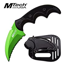 MTech USA Fixed Blade Tactical Knife G10 Texture Handle with Holster 2 Inch Blade
