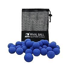 EKIND 100 Rounds Bulk Refill Ammo Bullet Balls Compatible for Nerf Rival, Apollo, ZECA, Khaos, & Atlas Blasters Blue Team Exclusive (Blue)