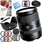 Tamron 28-300mm F/3.5-6.3 Di VC PZD Lens for Canon Bundle with 67mm Filter Sets, 67mm Lens Hood and Accessories (5 Items)