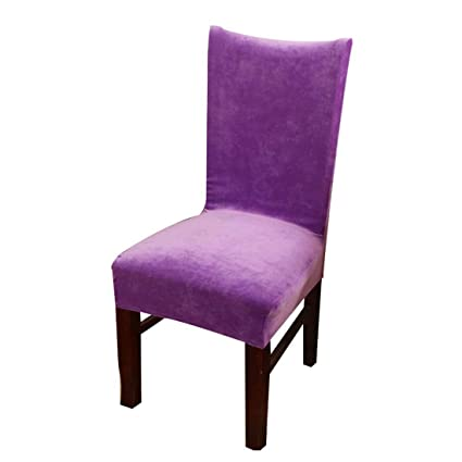Amazon Homiest 1 Pc Velvet Spandex Stretch Dining Room Chair