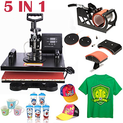 5in1 Heat Press Machine Digital Transfer Sublimation T-shirt