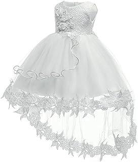 XFentech Abito da Principessa Infantile - Vestito da Cerimonia Nuziale della Neonata del Partito del Costume Convenzionale del Merletto del Fiore