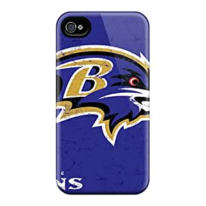 New Style Topcases Baltimore Ravens Premium Tpu Cover Case For Iphone 4/4s