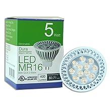 HitLights E Series 5 Watt MR16 12v LED Light Bulb - Warm White - GU5.3 Base UL saftey approved 3 Year Warranty