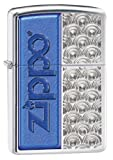 Zippo Half Logo Lighter, High Polish Chrome
