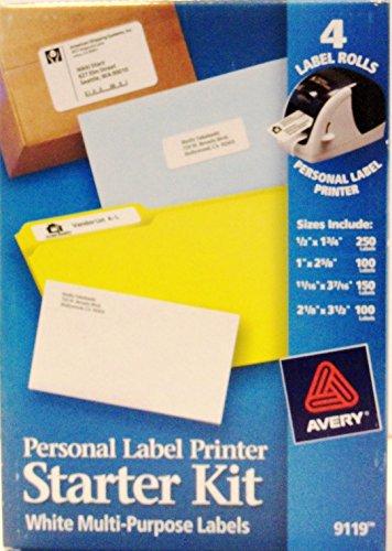 Personal Label Printer Starter Kit White Multi-purpose Labels