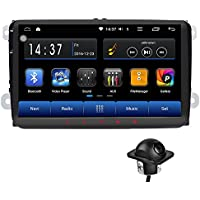Android 6.0 Car Radio Stereo 9 Double DIN Capacitive Touchscreen High Definition 1024x600 GPS Navigation Bluetooth USB Player 1G DDR3 + 16G NAND Memory Flash for VW Passat Golf MK5 MK6 Jetta+camera