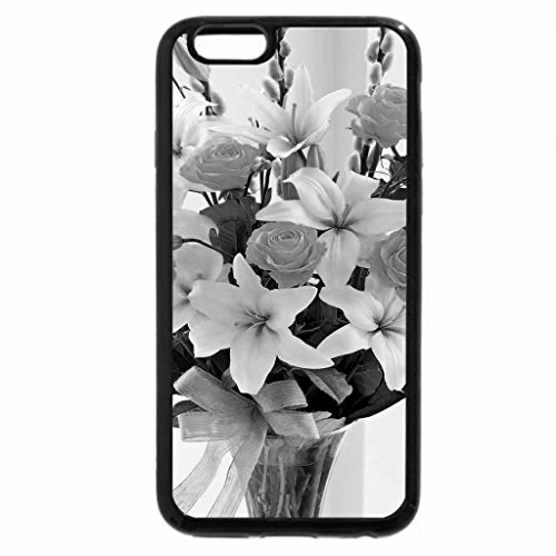 iPhone 6S Case, iPhone 6 Case (Black & White) - Lily and roses for Adi