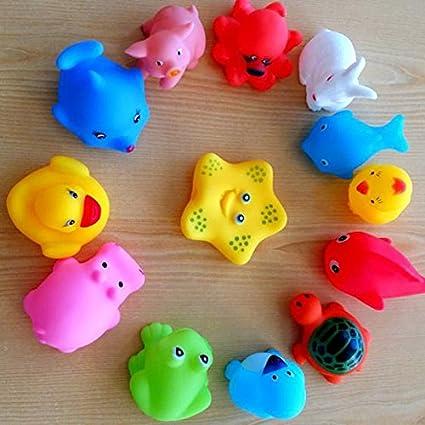 Amazon.com: Baby Bath Toys - 13 Pcs Lovely Mixed Animals Swimming ...